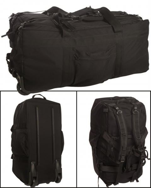 kampftrageseesack mit rollen gro e reisetasche rucksack ca 118 liter. Black Bedroom Furniture Sets. Home Design Ideas