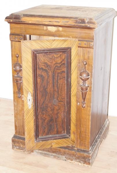 alter schrank kommode beistellschrank 56x48x91cm antik vintage ebay. Black Bedroom Furniture Sets. Home Design Ideas