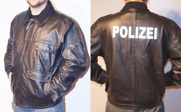 Polizei jacke schwarz