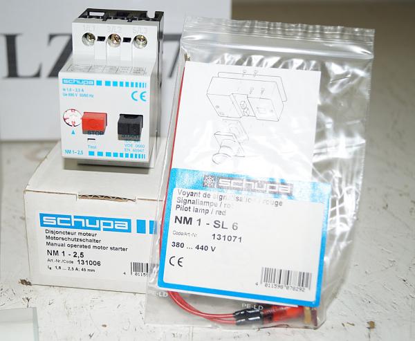 Schupa Motorschutzschalter NM 1–2,5 + Signallampe + Frontplatte | eBay